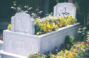 Hüseyin  Hilmi Işık's grave in Eyyüp Sultan